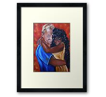 Spicy - Interracial Lovers Series Framed Print