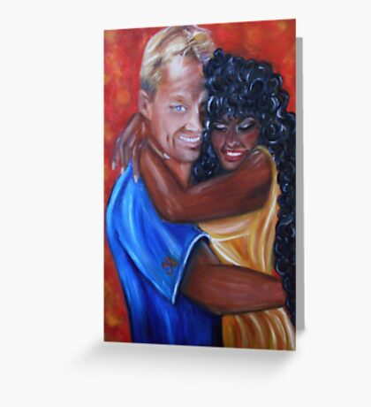 Spicy - Interracial Lovers Series Greeting Card