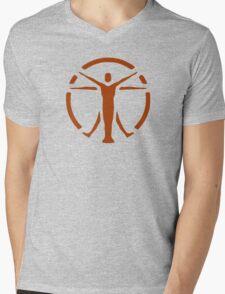 The Institute (orange logo) - Fallout 4 Mens V-Neck T-Shirt