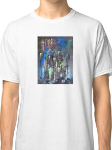 Abstract Urban High Rises in Pigments and Ink Classic T-Shirt