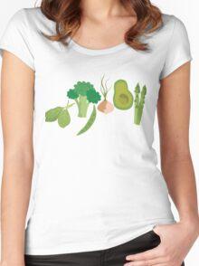 Green Veggies Women's Fitted Scoop T-Shirt