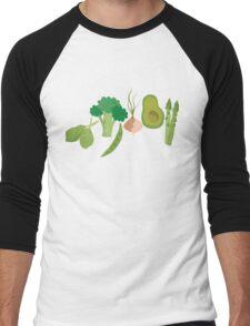 Green Veggies Men's Baseball ¾ T-Shirt