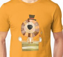 Watercolor Wild Animals Lion in Top Hat Unisex T-Shirt