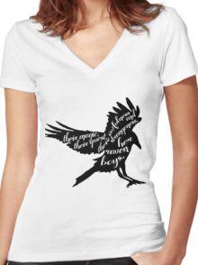 her raven boys. Women's Fitted V-Neck T-Shirt