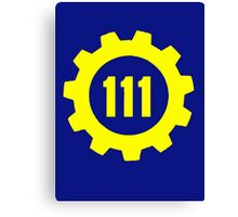Vault 111 - Emblem Canvas Print