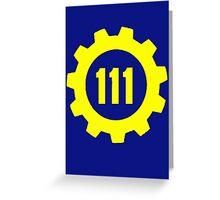 Vault 111 - Emblem Greeting Card