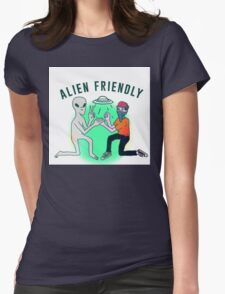 Alien Friendly Womens Fitted T-Shirt