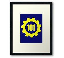 Vault 101 - emblem Framed Print