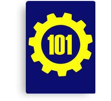 Vault 101 - emblem Canvas Print