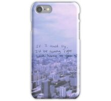 One Direction - If i could fly lyric phone case iPhone Case/Skin