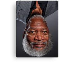 Morgan Freeman Upside Down. Canvas Print