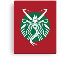 Krampuspresso - Caffeine Demon (RED) Canvas Print