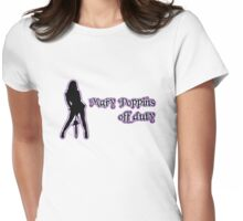 Mary Poppins off duty Womens Fitted T-Shirt