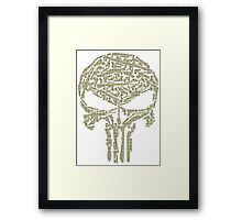 The Punisher Weapon Framed Print