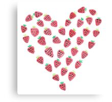 Strawberry Heart Canvas Print