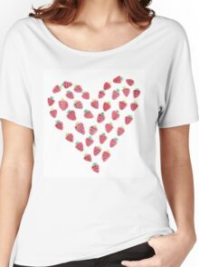 Strawberry Heart Women's Relaxed Fit T-Shirt