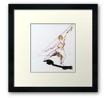 Figure Sketch Framed Print