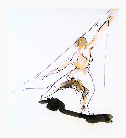 Figure Sketch Photographic Print