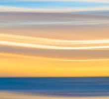 Bright coastal abstract eye-catching wavy pattern Sticker