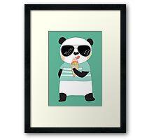 Cute Cartoon Animals Panda Bear Framed Print