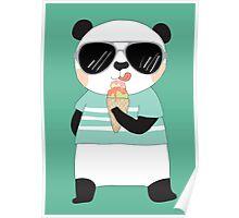 Cute Cartoon Animals Panda Bear Poster