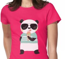 Cute Cartoon Animals Panda Bear Womens Fitted T-Shirt