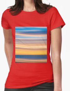 Bright coastal abstract eye-catching wavy pattern Womens Fitted T-Shirt