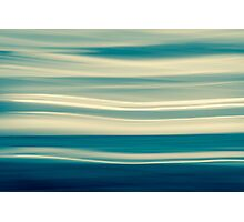 Retro effect coastal abstract wavy clouds over horizon Photographic Print