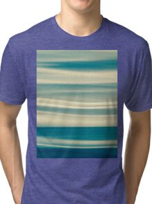 Retro effect coastal abstract wavy clouds over horizon Tri-blend T-Shirt