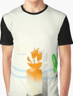 On the high seas crayon carving  Graphic T-Shirt