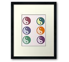 yin/yang multi-color Framed Print