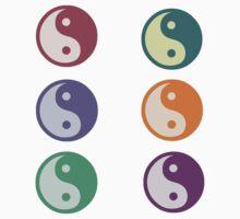 yin/yang multi-color One Piece - Short Sleeve