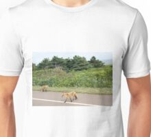 Foxes on the Road Unisex T-Shirt