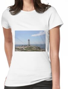 Peggy's Cove Lighthouse Womens Fitted T-Shirt