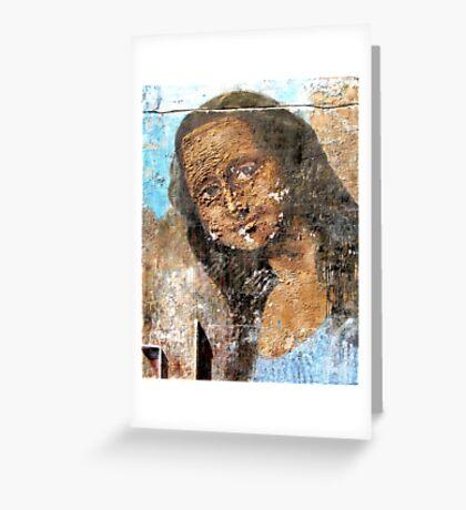 Urban Mona Lisa Greeting Card