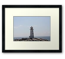 The Lighthouse at Peggy's Cove Framed Print