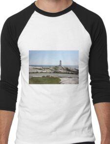Peggy's Cove Lighthouse Men's Baseball ¾ T-Shirt