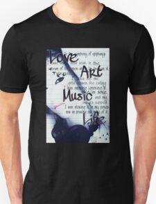 Love Art Music Unisex T-Shirt