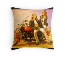 Motorcycle Supercat Throw Pillow