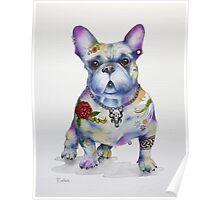 French Bulldog Tattoo Dog Poster