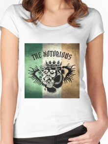 Notorious TriColour Gorilla  Women's Fitted Scoop T-Shirt