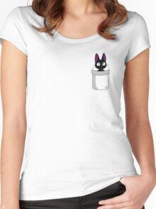 Pocket Jiji Women's Fitted Scoop T-Shirt