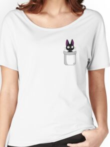 Pocket Jiji Women's Relaxed Fit T-Shirt