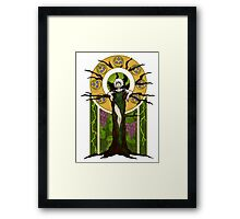 Green Lightning Framed Print