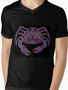 Crab Art Mens V-Neck T-Shirt