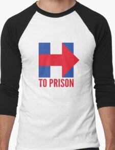 Hillary Clinton To Prison (Logo) Men's Baseball ¾ T-Shirt