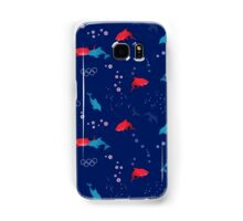 Olympic Shark and Dolphin Blue Samsung Galaxy Case/Skin