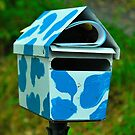 Blue Cow Print Box by Penny Smith