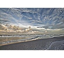 Morning Sky At The Beach Photographic Print