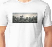 Soaring Eagle above Mystic Forest Unisex T-Shirt